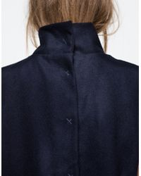Objects Without Meaning - Turtleneck Vest In Navy - Lyst