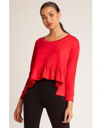 BB Dakota - Got It Goin On Ruffle Hem Sweatshirt - Lyst