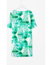 Cos Printed Poplin Dress - Lyst