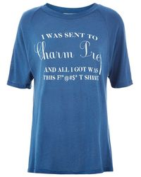 Wildfox Charm Prep T-Shirt blue - Lyst