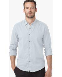 James Perse Standard Shirt blue - Lyst
