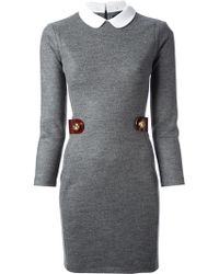 DSquared2 Snap Detail Dress - Lyst