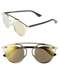 Dior Women'S 'So Real' 48Mm Sunglasses - Gold/ Crystal Black - Lyst