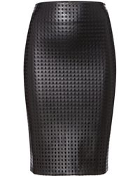 Pied A Terre Pu Cutout Skirt - Lyst