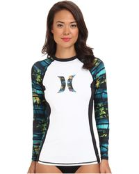Hurley One and Only Ls Icon Rashguard - Lyst
