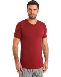 Calvin Klein Red Crew Neck Cotton T-Shirt - Lyst