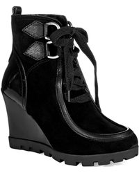 Guess Lanni Lace Up Boots - Lyst