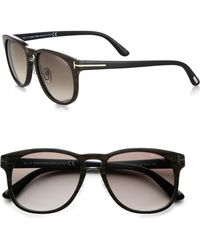 Tom Ford Cade 55mm Acetate Sunglasses - Lyst