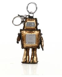 MCM Roboter Coated Canvas Keychain gold - Lyst