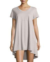Jethro - Short-sleeve High-low Trapeze Dress - Lyst