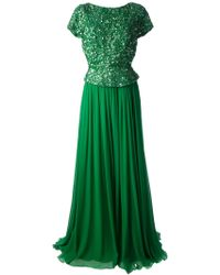 Elie Saab Sequined Evening Dress - Lyst