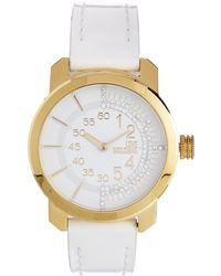 Boutique Moschino - Moschino Cheap And Chic Check Tock White Watch - Lyst