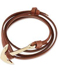 Miansai Anchor Leather Bracelet - Lyst