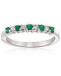 Tia Collections - .925 Alternate Diamond And Natural Gemstone Band - Lyst