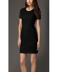 Burberry Floral Lace Dress - Lyst