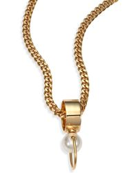 Chloé Darcey Faux Pearl Convertible Ring/Pendant Necklace - Lyst