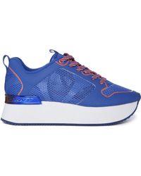 DKNY Active - Jessica Runway Flatform Mesh Blue Trainers - Lyst