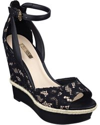 Guess - Odin Lace Wedge Sandals - Lyst