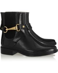 Burberry Glossedrubber Rain Boots - Lyst