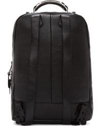 Mackage - Black Pebbled Leather Croydon Backpack - Lyst