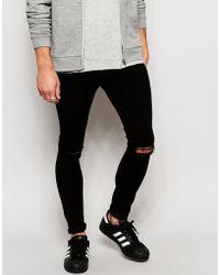 Black slashed skinny jeans – Global fashion jeans collection