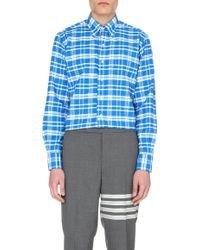Thom Browne Check Cotton Shirt - For Men - Lyst