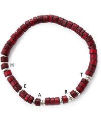 Lulu Frost G. Frost Wooden Morse Bracelet Red brown - Lyst