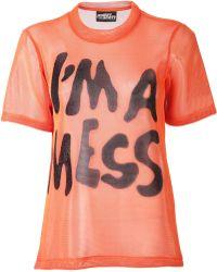 Jeremy Scott Jersey Mesh Tshirt - Lyst
