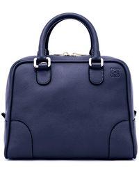 Loewe Women'S 'Amazona 75' Leather Satchel - Blue - Lyst