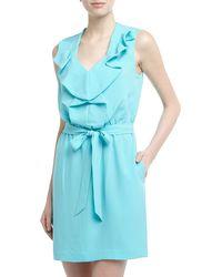 Diane Von Furstenberg Bobbie Sleeveless Ruffled Crepe Dress - Lyst