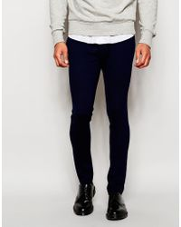 ASOS | Super Skinny Trousers In Jersey | Lyst