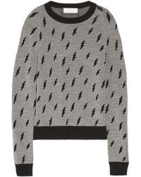 A.L.C. Castillo Patterned Wool Sweater - Lyst