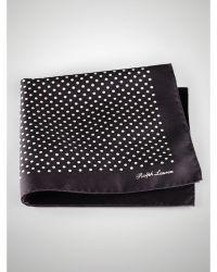Ralph Lauren Purple Label Polka-Dot Silk Pocket Square - Lyst
