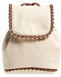 Big Buddha Women'S Studded Mini Backpack - Ivory - Lyst
