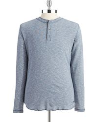 DKNY Henley Long Sleeved Top - Lyst