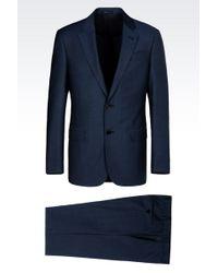 Armani Comfort Fit Suit In Virgin Wool - Lyst