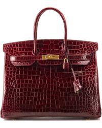 "Hermès | Bordeaux Porosus Crocodile Birkin Bag €"" 35cm | Lyst"