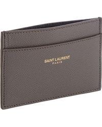 yves saint laurent wallet pink - saint-laurent-gray-credit-card-holder-product-1-21492479-2-314382562-normal.jpeg