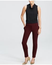 Ann Taylor | Double Cloth Ankle Pants | Lyst