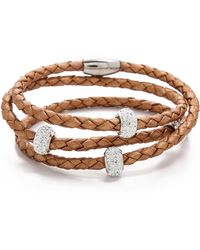 Liza Schwartz - Sobe Bedazzle Leather Wrap Bracelet - Lyst