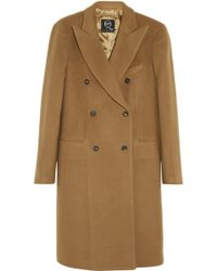 McQ by Alexander McQueen Doublebreasted Brushed Woolblend Coat - Lyst