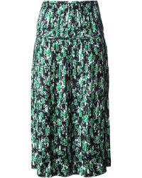 Marni Flower Print Skirt - Lyst