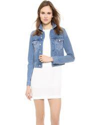 Acne Studios Tag Light Vintage Denim Jacket - Vintage Blue - Lyst