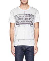 Alexander McQueen Sign Print T-shirt - Lyst