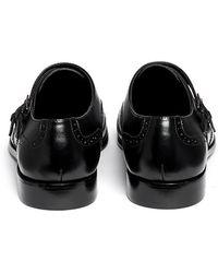Artigiano - Wingtip Brogue Leather Monk Strap Shoes - Lyst