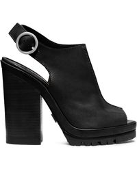 Michael Kors Patras Leather Platform Sandal - Lyst