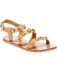 Report Signature Zoran Bling Flat Sandals brown - Lyst