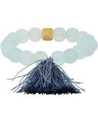 Sonya Renee Jewelry - Chalcedony Beatrice Stretch Bracelet - Lyst