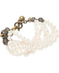 Lanvin - Pearl Gloria Multistrand Bracelet - Lyst