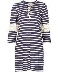 Sea | Sea Lace-up Detail Striped Dress | Lyst